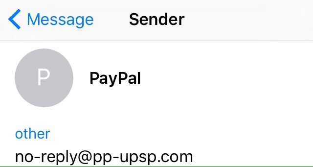 PayPal Sender Email